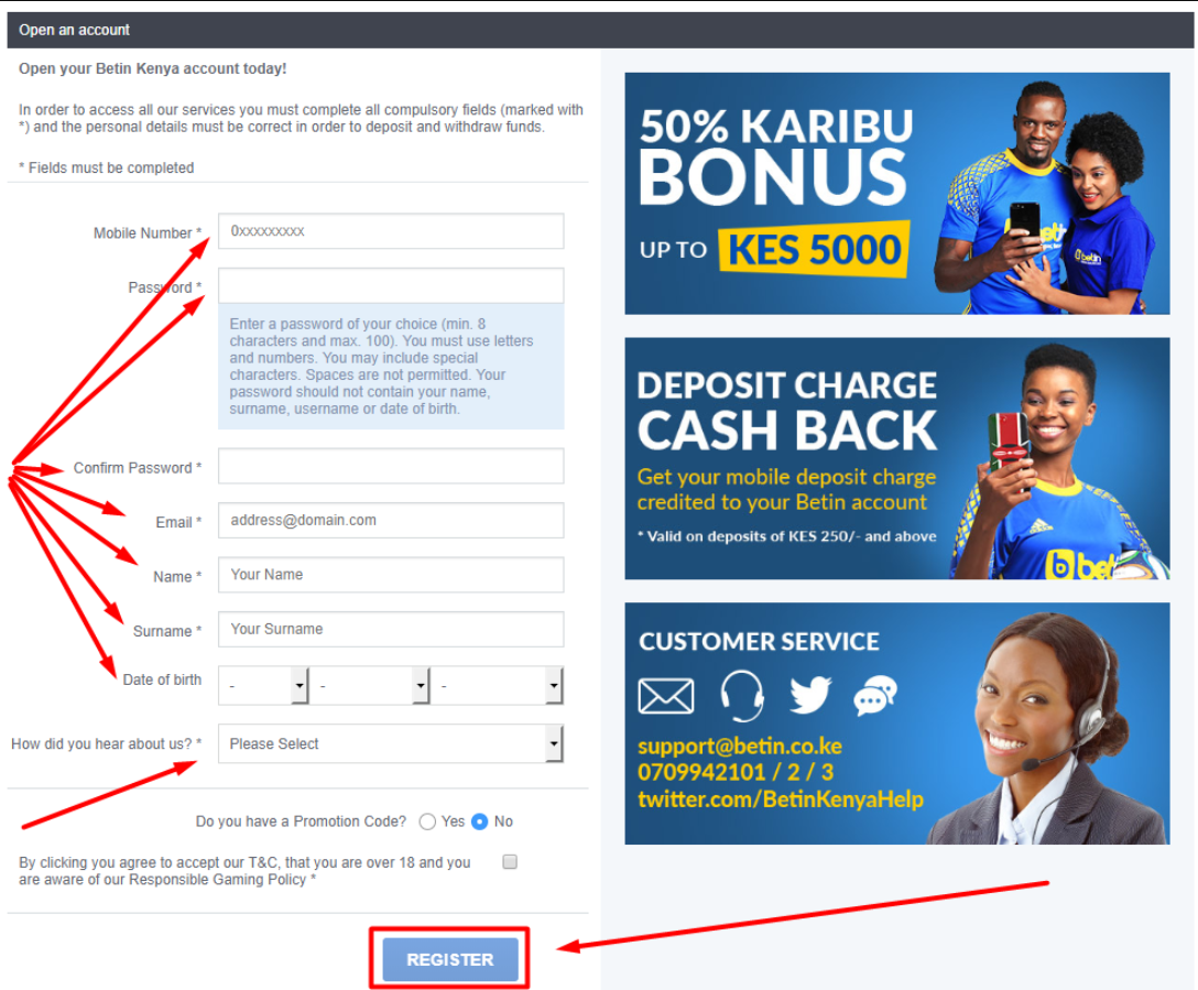 Betin Registration in Kenya