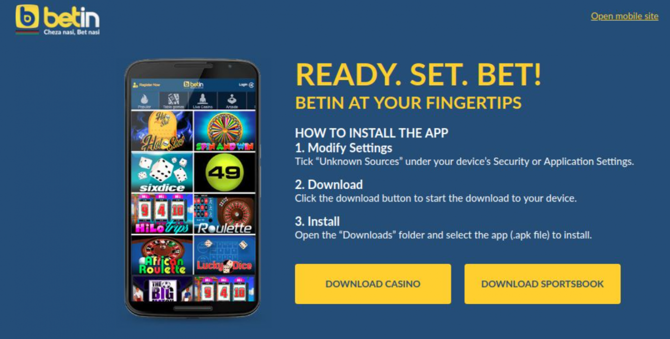 BETIN App in Kenya